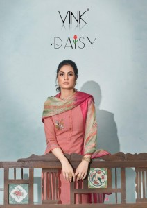 VINK DAISY COTTON CATCHY LOOK DAISY KURTI WITH PANT DUPATTA CATALOGUE