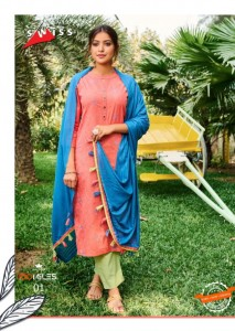 100 MILLES SWISS COTTON INNOVATIVE STYLE KURTIS WITH PANTS AND DUPATTA CATALOGUE