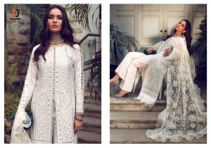 SHRADDHA DESIGNER SANA SAFINA VOL 3 CAMBRIC COTTON WITH HEAVY EMBROIDERY CHICKEN WORK PAKISTANI SUITS CATALOGUE