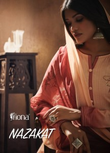 FIONA NAZAKAT PURE JAM SILK WITH EMBROIDERY HANDWORK FANCY DRESS MATERIAL SUITS CATALOGUE