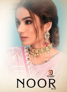 SHRADDHA DESIGNER NOOR VOL 3 CAMBRIC COTTON WITH HEAVY EMBROIDERY CHICKEN WORK PAKISTANI SUITS CATALOGUE