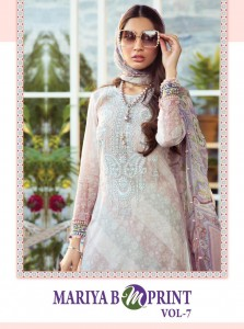 SHREE FABS MARIYA B M PRINT VOL 7 PURE CAMBRIC LAWN PRINT WITH EXCLUSIVE EMBROIDERY WORK PAKISTANI SUITS CATALOGUE