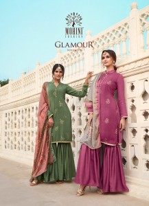 MOHINI FASHION GLAMOUR VOL 91 PURE NATURAL CRAPE SILK WITH EMBROIDERY WORK GHARARA SALWAR SUITS CATALOGUE