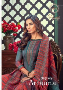 HARSHIT FASHION HUB ARFAANA PURE COTTON DIGITAL PRINT WITH SWAROVSKI DAIMOND WORK SALWAR SUITS CATALOGUE