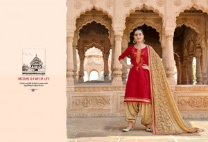 KESSI FABRICS PANETAR BY PATIALA PURE JAM SILK WITH EMBROIDERY WORK SALWAR SUITS CATALOGUE