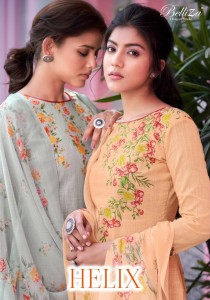 BELLIZA DESIGNER STUDIO HELIX PURE COTTON LINEN WITH DIGITAL PRINT SALWAR SUITS CATALOGUE
