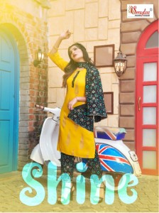 SMYLEE BY RUNG LAUNCHED SHINE HEAVY RAYON PRINT WITH MANUAL HANDWORK STRAIGHT KURTIS AND PANTS CATALOGUE