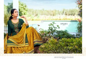 RANGOON APSARA VOL 3 JAM SILK REGAL LOOK KURTI BOTTOM WITH DUPATTA SHARARA STYLE CATALOGUE