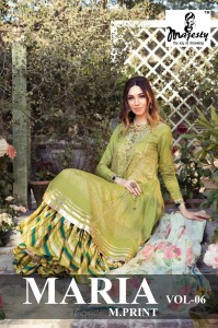 MAJESTY MARIA M PRINT VOL 6 JAM SILK DIGITAL PRINT WITH EMBROIDERY WORK PAKISTANI SUITS CATALOGUE