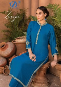 TZU ZARIYA RAYON CATCHY LOOK KURTI WITH PLAZZO CATALOGUE