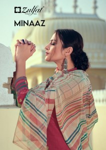 ZULFAT DESIGNER SUITS MINAAZ PURE HEAVY JAM COTTON DIGITAL PRINT SALWAR SUITS CATALOGUE