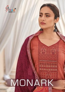 SHREE FABS MONARK PURE COTTON PRINT WITH SELF EMBROIDERY WORK SALWAR SUITS CATALOGUE