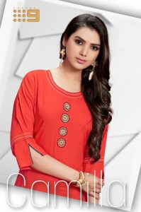CHANNEL 9 CAMILLA SOFT RAYON BASE WITH HEAVY EMBROIDERY WORK KURTIS AND PLAZZO CATALOGUE