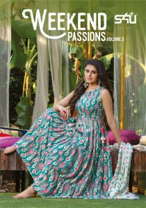 S4U BY SHIVALI WEEKEND PASSION VOL 5 COTTON CLASSIC TRENDY LOOK LONG KURTI CATALOGUE