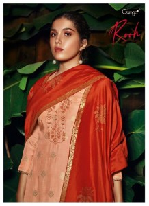 GANGA ROOH PURE MUSLIN JACQUARD WITH HEAVY EMBROIDERY WORK FORML WEAR SALWAR SUITS CATALOGUE
