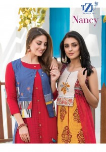TZU NANCY FANCY COLORFUL COLLECTION OF KURTIS AT REASONABLE RATE