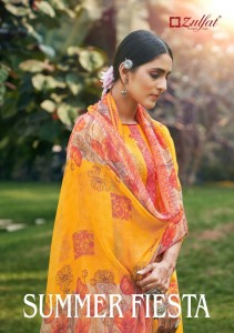 ZULFAT DESIGNER SUITS SUMMER FIESTA COTTON EXCLUSIVE PRINT SALWAR SUIT CATALOGUE