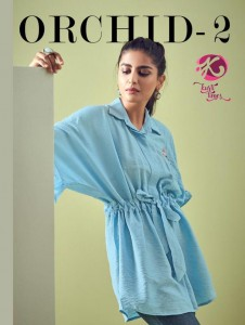 KURTI TIMES ORCHID VOL 2 VISCOSE DECENT EMBROIDARY LOOK SHORT TOPS CATALOGUE