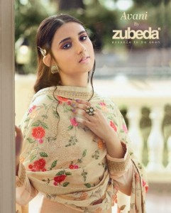 ZUBEDA AVANI ROSHNI CHINON WITH EMBROIDERY WORK FANCY DESIGNER FORMAL WEAR SALWAR SUITS CATALOGUE