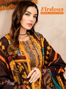 SHREE FABS FIRDOUS REMIX COLLECTION COTTON EMBROIDERY PAKISTANI SUMMER DRESS MATERIALS CATALOGUE