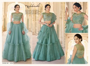 NAKKASHI EIRA SATIN SILK GORGEOUS LOOK LEHNGHA CATALOGUE