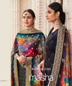 MAISHA KHWAHISH 9301-9306 SERIES SILK DESIGNS OF WOMEN SALWAR SUITS CATALOGGUE