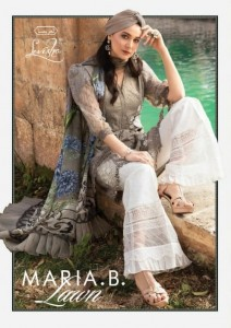 LEVISHA MARIA B LAWN VOL 1 PURE LAWN WITH HEAVY EMBROIDERY WORK PAKISTANI STYLE SUITS CATALOGUE