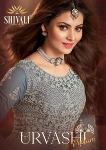 SHIVALI URVASHI PEPLUM REGAL LOOK INDO WESTERN CATALOGUE