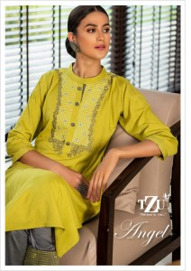 TZU ANGEL COTTON AUTHENTIC FABRIC KURTI CATALOGUE