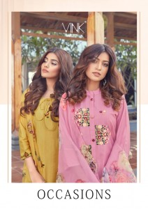 VINK OCCASIONS VISCOSE NEW AND MODERN STYLE KURTA WITH PANT AND DUPATTA CATALOGUE