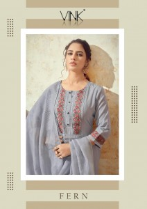 VINK FERN COTTON NEW AND MODERN STYLE KURTA WITH PANT AND DUPATTA CATALOGUE