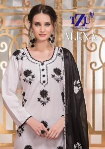 TZU ALEXA COTTON GORGEOUS LOOK KURTI WITH BOTTOM AND DUPATTA CATALOGUE