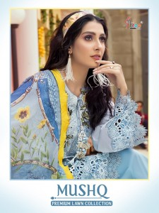 SHREE FABS MUSHQ PREMIUM LAWAN COLLECTION DECENT EMBROIDARY LOOK PAKISTANI STYLE SALWAR SUIT CATALOGUE