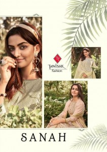 TANISHK FASHION SANAH 2021 PURE LAWN CAMBRIC COTTON DRESS MATERIAL SALWAR SUITS CATALOGUE