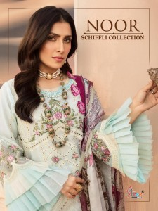 SHREE FABS NOOR SCHIFFLI COLLECTION LAWN EMBROIDERY PAKISTANI SUITS CATALOGUE