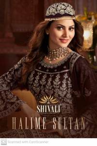 SHIVALI FASHION HALIME SULTAN GEORGETTE WITH HEAVY EMBROIDERY WORK WEDDING PARTY WEAR READY MADE SUITS CATALOGUE