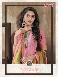 BIPSON NAZAKAT VOL 1 COTTON LAWN DIGITAL PRINT WITH SEQUENCE EMBROIDERY WORK SALWAR SUITS CATALOGUE