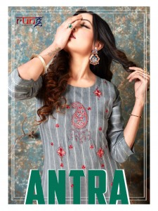 RUNG ANTRA HEAVY WEVING LINING RAYON WITH MANUAL EMBROIDERY WORK LONG STRAIGHT TYPE CASUAL WEAR KURTIS CATALOGUE