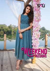 S4U SHIVALI WEEKEND PASSIONS COTTON CLASSIC TRENDY LOOK LONG KURTI CATALOGUE