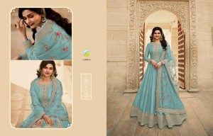 VINAY FASHION KASHEESH PARIMAHAL DOLA SILK WITH EMBROIDERED WORK PAKISTANI STYLE WEDDING WEAR SALWAR KAMEEZ CATALOGUE
